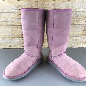 UGG Shoes - UGG Pink Classic Tall Boots Sz 8